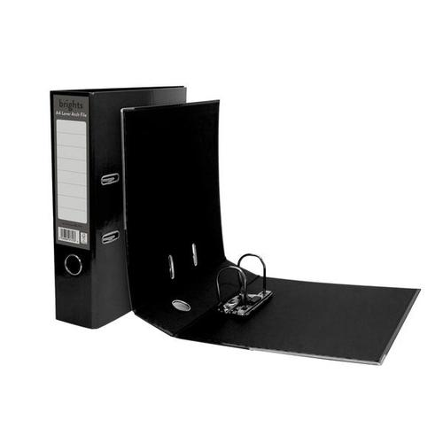 Pukka Brights Lever Arch File A4 Black Box of 10