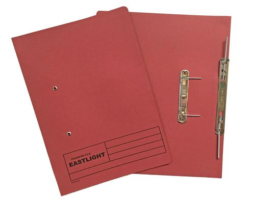 ValueX Transfer Spring File Manilla Foolscap 285gsm Red (Pack 25)