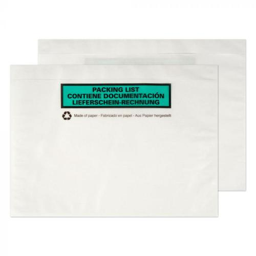 Purely Packaging Paper Documents Enclosed Wallet C5 PK1000
