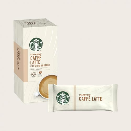 STARBUCKS Latte Instant Coffee Sachets (Pack 5)