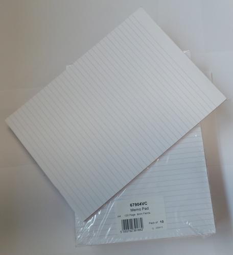 ValueX A4 Memo Pad Headbound Feint Ruled (Pack 10)