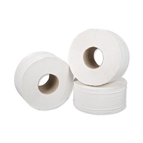 ValueX Mini Jumbo Toilet Roll 2 Ply 200m White (Pack 12)