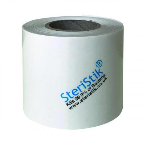 Deflecto SteriStik Antimicrobial Film Roll 75mmx25m Clear