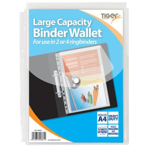 ValueX Large Cap Punched Pocket A4 Pk10