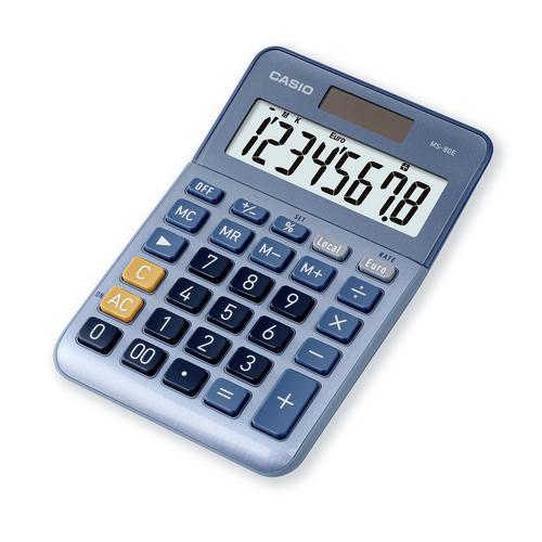 Casio MS-80E 8 Digit Desktop Calculator Silver