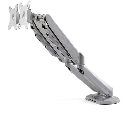 Up to 30in Desk Mount Dual Monitor Arm