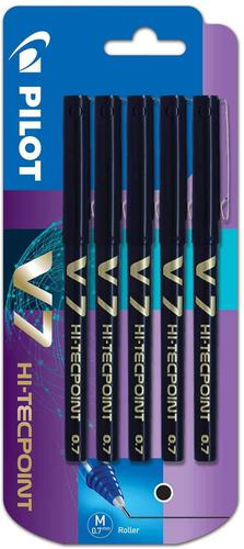 Pilot V7 Liquid Ink Rollerball 0.7mm Black PK5