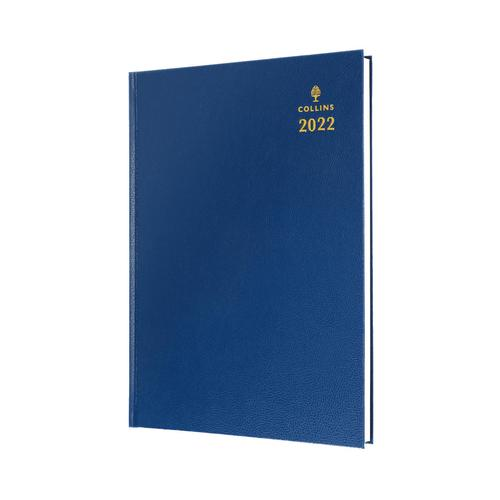 Collins Standard Desk 35 A5 Week To View 2022 Diary Blue 35.60-22