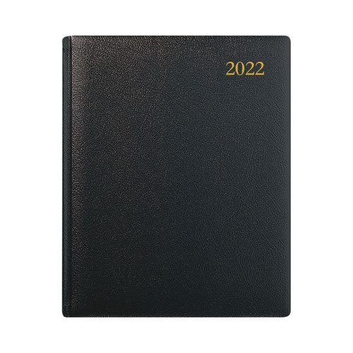 Collins QB7 Leather Week To View Appointments 2022 Diary Black QB7-22