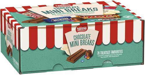 Nestle Mini Breaks Assorted Chocolate Bars (Pack 70)