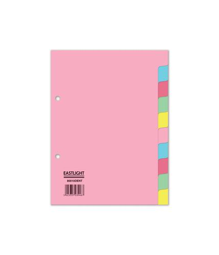 ValueX Divider 10 Part A5 155gsm Card Assorted Colours