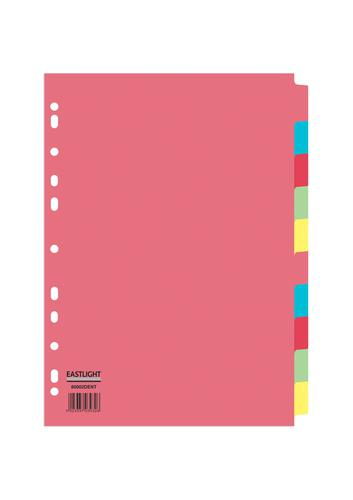 ValueX Divider 10 Part A4 155gsm Card Assorted Colours