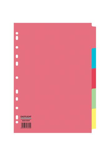 ValueX Divider 5 Part A4 155gsm Card Assorted Colours