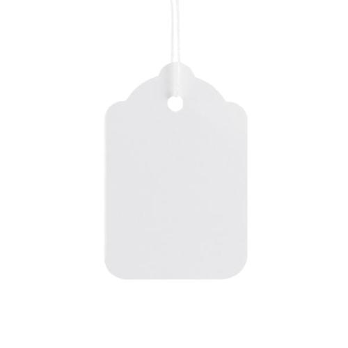 ValueX Reinforced Coloured Strung Tag 48x32mm White (Pack 1000) T257845