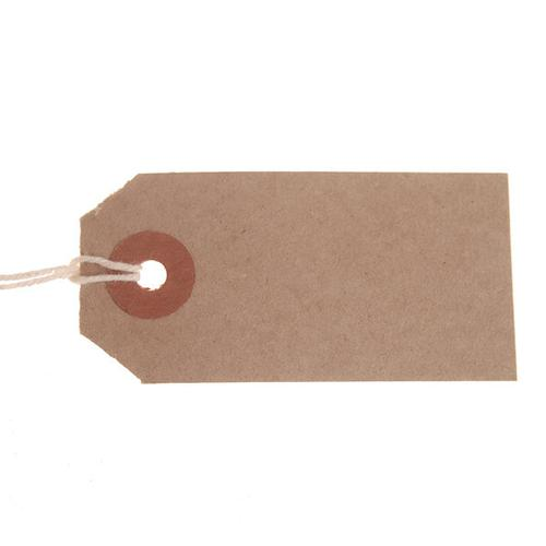 ValueX Reinforced Strung Tag 70x35mm Buff (Pack 1000) T257761