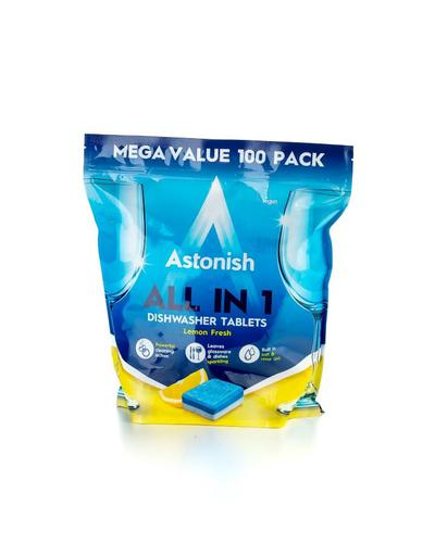Astonish All in One Dishwasher Tablets Lemon (Pack 100)