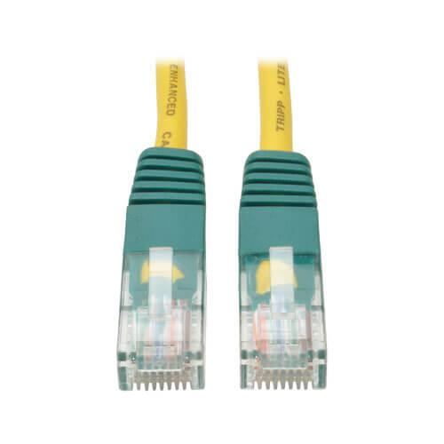 Tripp Lite Cat5e 350 MHz Crossover Molded UTP Ethernet Patch Cable RJ45 Yellow 10ft