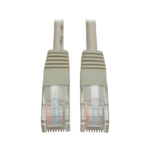 Tripp Lite Cat5e 350 MHz Molded UTP Ethernet Patch Cable RJ45 Gray 75ft