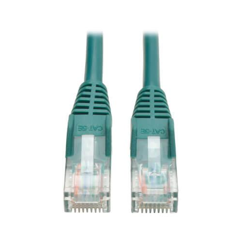 Tripp Lite Cat5e 350 MHz Snagless Molded UTP Ethernet Patch Cable RJ45 Green 5ft
