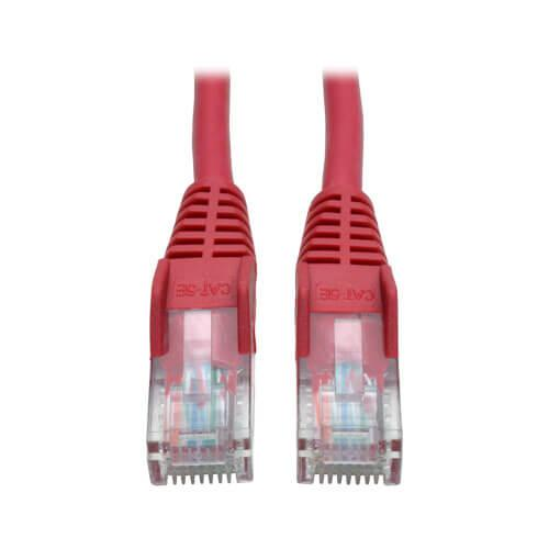 Tripp Lite Cat5e 350 MHz Snagless Molded UTP Ethernet Patch Cable RJ45 Red 3ft