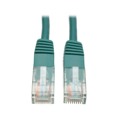 Tripp Lite Cat5e 350 MHz Molded UTP Ethernet Patch Cable RJ45 Green 7ft