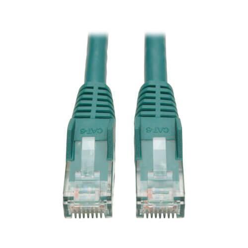 Tripp Lite Cat6 Gigabit Snagless Molded UTP Ethernet Patch Cable RJ45 Green 1ft