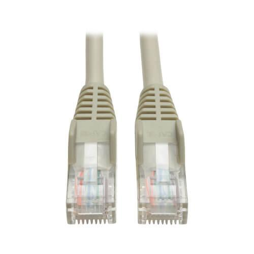 Tripp Lite Cat5e 350 MHz Snagless Molded UTP Ethernet Patch Cable RJ45 Gray 7ft