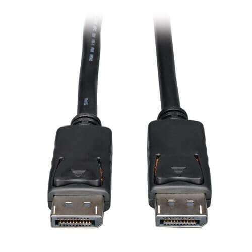 Tripp Lite DisplayPort Cable with Latches 4K Male 3ft