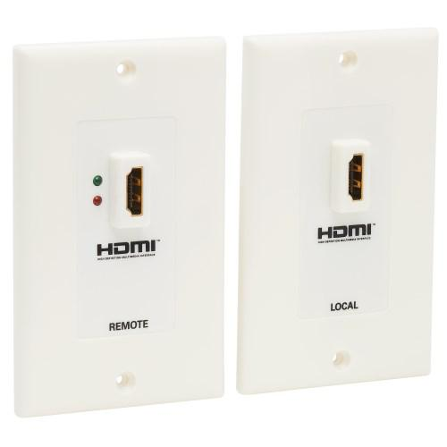Tripp Lite HDMI over Dual Cat5 Cat6 Extender Wall Plate Kit with Transmitter and Receiver TAA