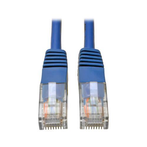 Tripp Lite Cat5e 350 MHz Molded UTP Ethernet Patch Cable RJ45 Blue 5ft