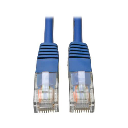 Tripp Lite Cat5e 350 MHz Molded UTP Ethernet Patch Cable RJ45 Blue 6ft