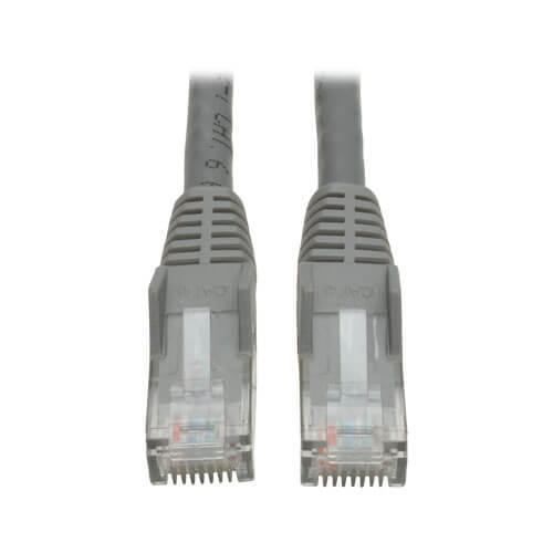 Tripp Lite Cat6 Gigabit Snagless Molded UTP Ethernet Patch Cable RJ45 Gray 10ft