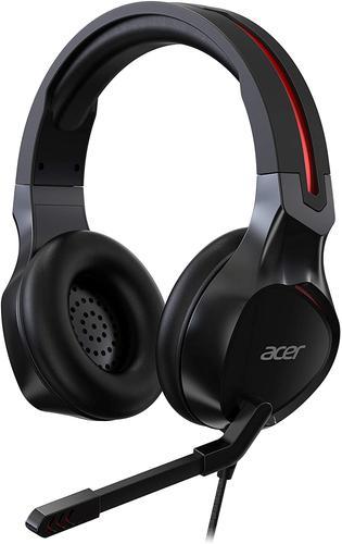 Acer Nitro Gaming Headset Over Ear 3.5mm Jack Black 50mm Advanced Drivers Omnidirectional Microphone Adjustable Slider Headband