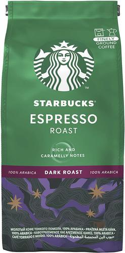 STARBUCKS Espresso Dark Roast Finely Ground Coffee (Pack 200g) 12461186