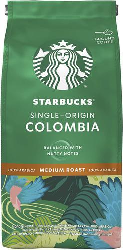 STARBUCKS Single Origin Columbia Medium Roast Ground Coffee (Pack 200g) 12400229