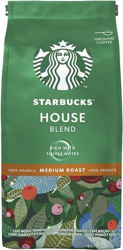 STARBUCKS House Blend Medium Roast Ground Coffee (Pack 200g) 12400244
