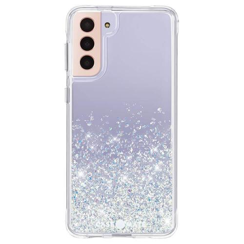 Case Mate Twinkle Stardust Ombre Samsung Galaxy S21 Ultra 5G Phone Case Micropel Antimicrobial Protection Dust Resistant Scratch Resistant Drop Proof
