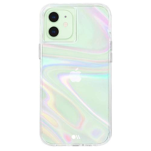 Case Mate Soap Bubble iPhone 12 Mini Phone Case Micropel Antimicrobial Protection Dust Resistant Scratch Resistant Drop Proof