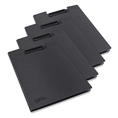 Rapesco Germ Savvy Antibacterial A4 Foldover Clipboard Black Pack 4