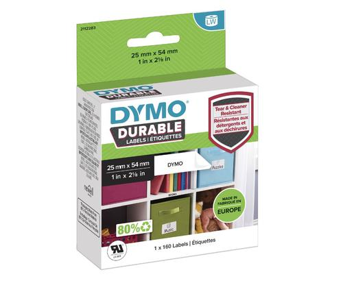 DYMO LabelWriter Durable 25mm x 54mm White  Poly (Pack 160)  2112283