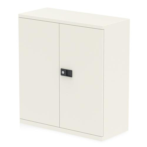 Qube by Bisley 2 Door Stationery Cupboard with Shelf Chalk White BS0026