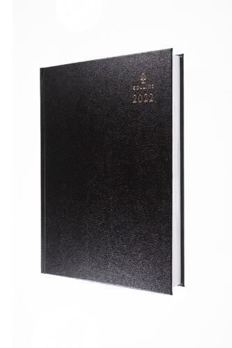 Collins Standard Desk 47 A4 2 Pages Per Day 2022 Diary Black 47.99-22