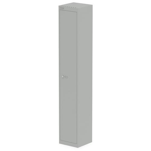 Qube by Bisley 1 Door Locker 1800mm 305mm Depth Goose Grey BS0016