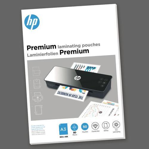 HP Premium Laminating Pouches A3 80 micron Pack 50 9126