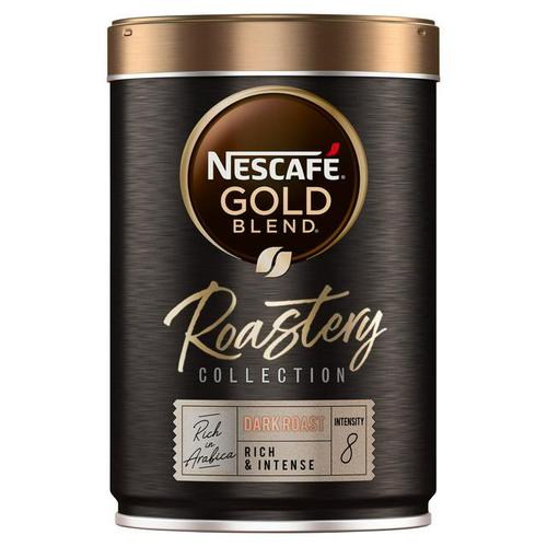 Nescafe Gold Blend Roastery Collection Dark Roast Instant Coffee 100g (Single Tin) 12465134