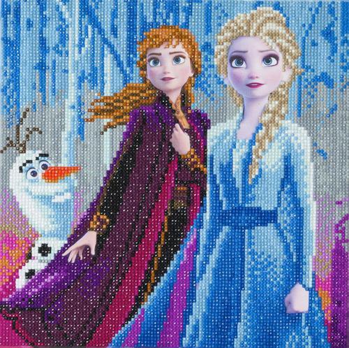Crystal Art Elsa Anna Olaf 30 x 30cm Kit CAK-DNY700M