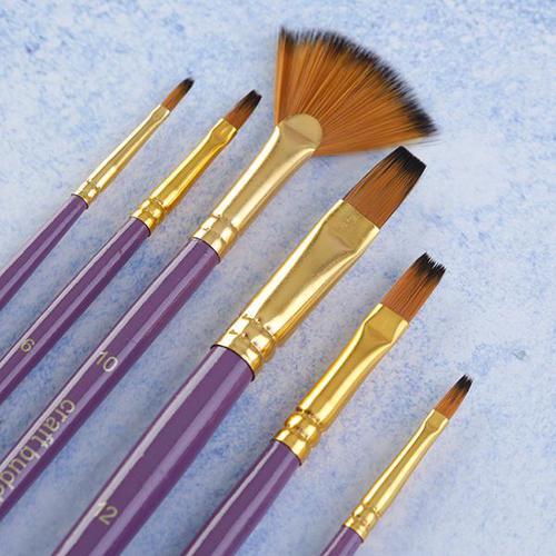 Craft Buddy Set of Brushes (Pack 6) BRKT01