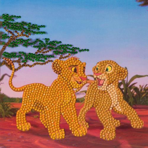 Crystal Art Simba and Nala 18 x 18cm Card CCK-DNY802