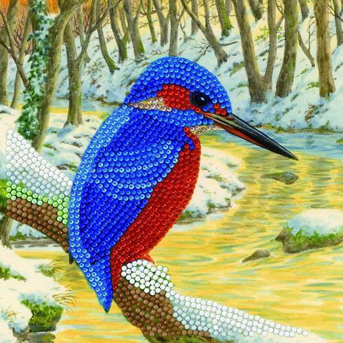 Crystal Art Kingfisher 18 x 18cm Card CCK-A66