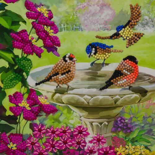 Crystal Art Birds 18 x 18cm Card CCK-A50
